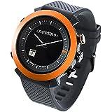 COGITO CLASSIC - relojes inteligentes (Alrededor, Negro, Naranja, Negro, Resistente al agua)