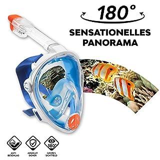 Vollgesichts Schnorchelmaske – La Costa Easy Dive Deluxe – vom Wassersportexperten Aqua Lung Gr. S/M