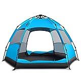MIY & Senden Dome Zelt Automatische Instant Camping Wasserdicht Hydraulische Anti UV-6bis 8Man Festival Zelten für Outdoor Camping Wandern Reisen Familie, Blau