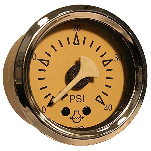 VDO Allentare Teak 40PSI Mechanical Water Pressure Gauge