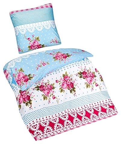 Aminata – Verspielte Bettwäsche 135x200 cm Baumwolle + Polyester +