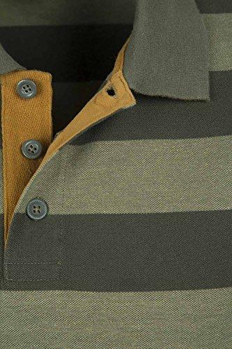 Mountain Warehouse Harpoon Gestreiftes Herren-Polohemd Khaki