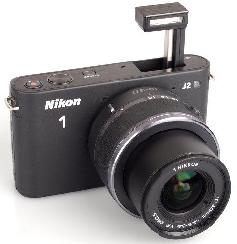 Nikon 1 J2 Systemkamera (10,1 Megapixel, 7,5 cm (3 Zoll) Display) Kit inkl. Nikkor VR 10-30 mm schwarz
