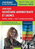 Concours Secrétaire administratif et SAENES - Tout-en-un - Concours 2019...