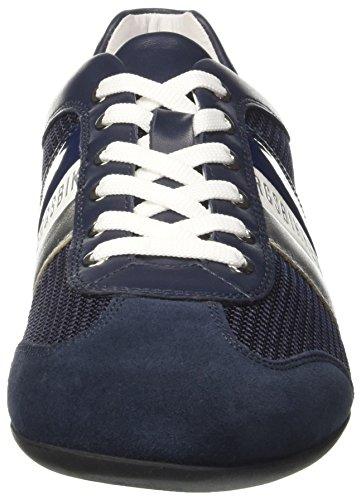BIKKEMBERGS Herren Springer 012 Niedrige Sneaker Blu (Blue/silver)