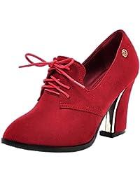 RAZAMAZA Zapatos de Tacon Ancho Alto para Mujer
