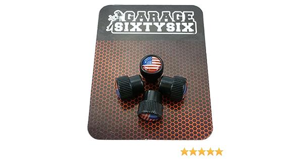 Garage Sixtysix 4 Ventilkappen Modell Chicago Schwarz Motiv Usa Auto