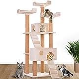 Leopet Schnellverschluss Kratzbaum Katzenbaum Katzenkratzbaum Spielbaum Kletterbaum 173 cm Hoch Möbel für Katzen in diversen Farben - 6