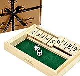 Shut the Box Dice Spiel - Luxus 9 Zahlen Klappbrett spiel - Jaques