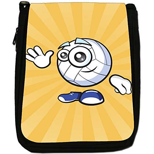 sporticons Happy palloni sportivi Media Nero Borsa In Tela, taglia M Sporticon Waving Net Ball