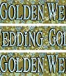 Golden Wedding 50th Anniversary Holographic Plastic Banner
