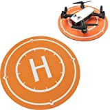 Kismaple SPARK Drone Landing Pad, Mouse Pad, Collapsible Helicopter Helipad Launch Pad Parking Apron for DJI Spark, Mavic Air, Tello, SYMA X5SW, ini Micro FPV Racing RC Drone by Kismaple