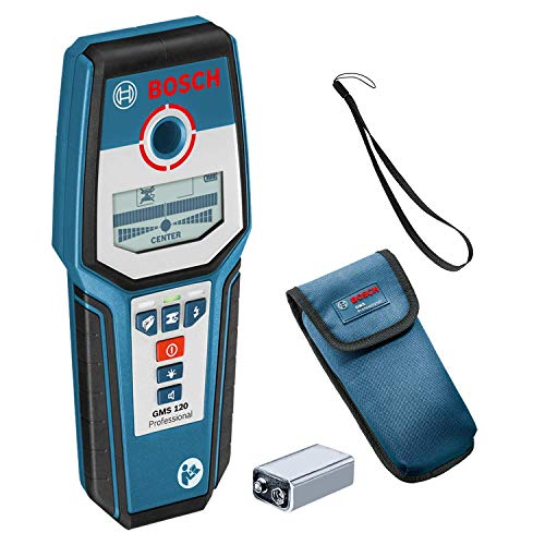 Bosch Professional digitales Ortungsgerät GMS 120 (max. Detektionstiefe Holz/Eisenmetalle/Nichteisenmetalle/spannungsführende Leitungen: 38/120/80/50 mm, im Karton)