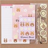 set carta da lettere orsi mini buste adesivi dal Giappone