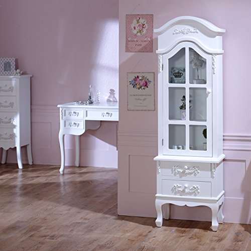 antique-white-tall-display-cabinet-with-drawers-pays-blanc-range