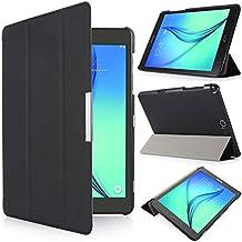 iHarbort® Samsung Galaxy Tab A 9.7 Funda - ultra delgado ligero Funda de piel de cuerpo entero para Samsung Galaxy Tab A 9.7 pulgada (SM-T550 SM-T555) (Galaxy Tab A 9.7, negro)