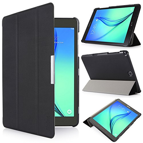 iHarbort® Samsung Galaxy Tab A 9.7 Hülle Case Tasche mit Standfunktion Auto Wake up Sleep PU Leder hüllen für Samsung Galaxy Tab A 9.7 (SM-T550N/ T555N) Smart Cover mit Auto Sleep Wake up / Standfunktion (Galaxy Tab A 9.7, schwarz) (Wake Schlafen Up)