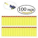 100er Darts Nachfüllpack N-Strike Soft Mega Schaum Elite Pfeile blaster für Nerf Zubehör Spielzeug Bullets (Gelb)