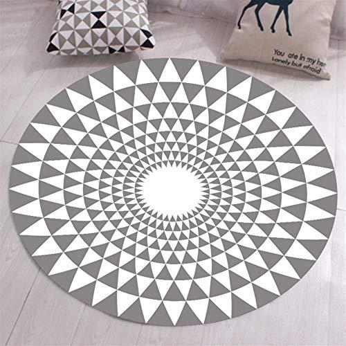 Ommda Alfombras Salon Modernas Redondas Antideslizante Alfombras Vinilicas Geometricas 3D facil Limpieza...
