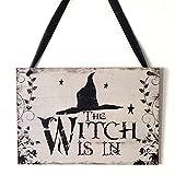 Partito Supplies Decorazione Witch Is In epoca in legno placca a muro cartello appeso Consiglio casa