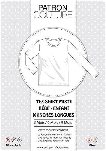 Pack 3Größen–3Monate/6mois/9mois–Tee shirt Unisex Langarm