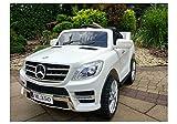 Véhicule électrique pour Enfants Voiture électrique Télécomande - Mercedes ML350 - Blanc