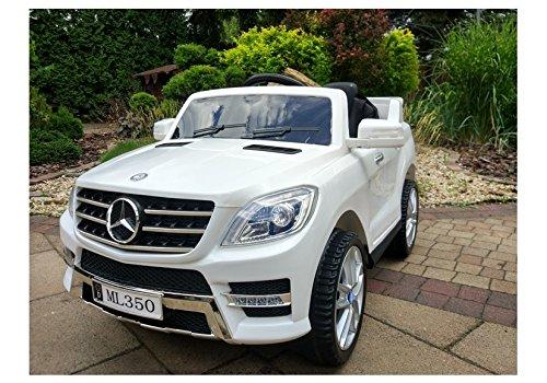 BSD Elektro Kinderauto Elektrisch Ride on Kinderfahrzeug Elektroauto Fernbedienung - Mercedes ML350 - Weiß