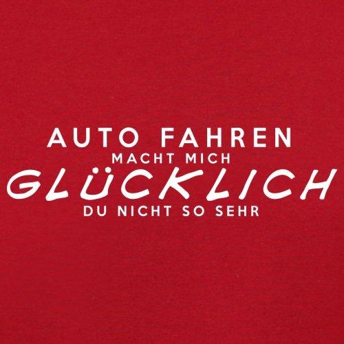 Auto fahren macht mich glücklich - Damen T-Shirt - 14 Farben Rot