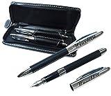 sehr schönes Hochwertiges 2-tlg. Schreibset Kugelschreiber, Füller mit Gravur nach Wunsch.