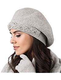 Kamea Damen Baskenmütze Kopfbedeckung Herbst Winter Wollgarn Bolzano