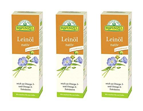 2358eurl Leinl Nativ 3x500ml Bio Rapunzelvorratspack Neu