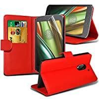 Samsung Galaxy A5 2017 case ( Red ) Cover for Samsung Galaxy A5 2017 Wallet Case Durable Book Style PU Leather Wallet Elegant Classic Flip cover Case Skin Cover+ LCD Screen Protector Guard, Polishing Cloth Samsung Galaxy A5 2017 Wallet + FREE SCREEN PROTE