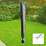 Fachhandel-Plus das Plus für Ihren Einkauf Komfort Schutzhülle für Wäschespinne 190x29cm Schutzhaube Schonbezug Anthrazit