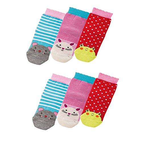 Baby Socken,6 Pack,74/80,Niedliche Tiere (Niedliche Baby-socken)