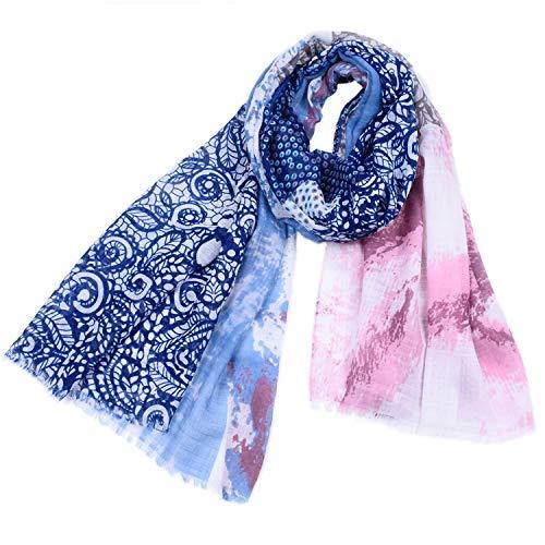 Xiaochou@sl 6 Farboptionen, Schals, großformatige Platten, Garn, Blumendrucke, Quasten, Elegante farblich passende Tücher für Damenmode, Vier Jahreszeiten, multifunktionale Luftkühlungsmaßnahmen, So -
