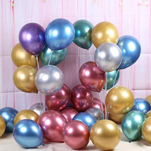 Mitlfuny -> Haus & Garten -> Küche,50 Stücke Chrome Shiny Metallic Latex Luftballons für Geburtstag Hochzeit Grad ()