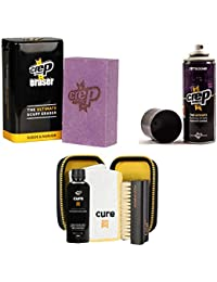 Crep Protect Suede and Nubuck Shoe Care Kit Includes the Crep Protect Rain & Stain Resistant Barrier Spray, Crep Protect Cure, and Crep Protect Eraser.