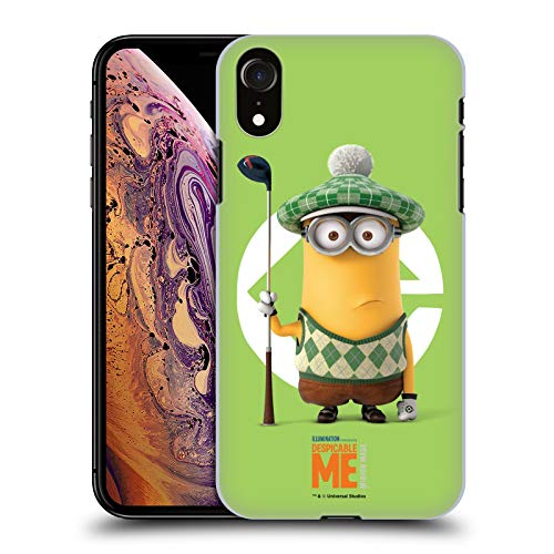 Kevin Der Kostüm Minion - Head Case Designs Offizielle Despicable Me Kevin Golfer Kostuem Minions Harte Rueckseiten Huelle kompatibel mit iPhone XR