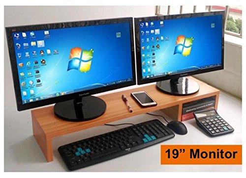 80cm sehr großer Computer Monitor Riser oder Laptop stehen, und Sie ist eine lange Robuste Dual Doppel- oder Multi-Desktop Monitor Bildschirm Riser Height: 4.3