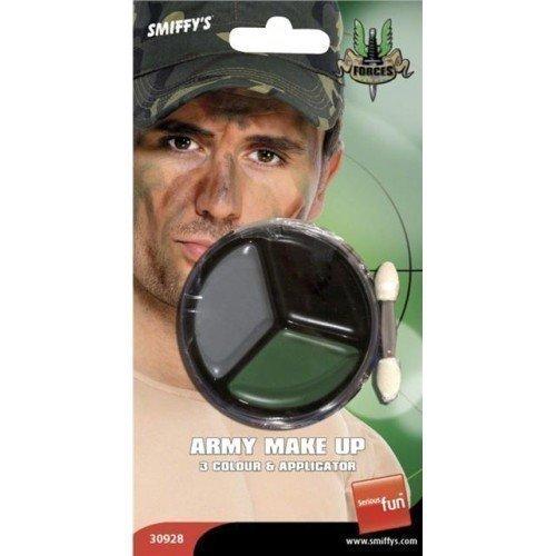 Herren Damen Tarnmuster Armee Krieg Militär Gesichtsfarbe Make-up Satz Kostüm Verkleidung Zubehör (Militär Kostüm Make Up)