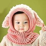 Swallowuk Winter Baby Kinder Jungen Mädchen Schal Kapuze Hüte Caps (rosa)