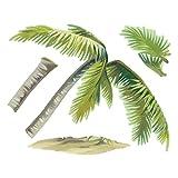 Wallies Breezy Palm Aufkleber Abziehen und Aufkleben Vinyl Wand Kunst, Mehrfarbig