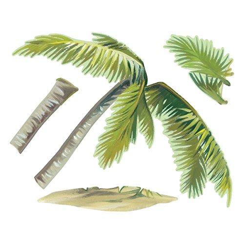 Preisvergleich Produktbild Wallies Breezy Palm Aufkleber Abziehen und Aufkleben Vinyl Wand Kunst, mehrfarbig