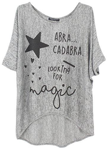 Emma & Giovanni Oberteile Tshirt Magic - Damen (Grau, L/XL)