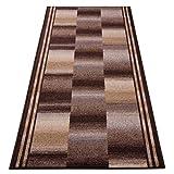 Teppichläufer Ikaria braun 16802 Teppich Läufer Brücke Flur Meterware in 44 Größen, 3 Farben, rutschsicher, 67 cm breit