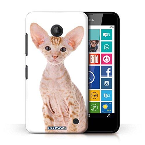 Kobalt® Imprimé Etui / Coque pour Nokia Lumia 635 / Peterbald conception / Série Espèces de chats Peterbald