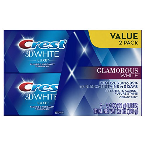 Crest White 3d 3d (Crest Twin Pack 3D White Luxe Glamorous White Toothpaste, 3.5 Ounce each, 2 Pack)