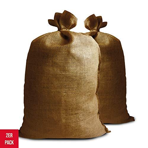 Noor Premium Jutesäcke 2er Pack Gr.XL 65 x 135 cm I 2X Multifunktionaler Jutesack I Winterschutz für Topf- & Kübelpflanzen I Frostschutz für Pflanzen I Pflanzen-Überwinterung Gartensack I Natur