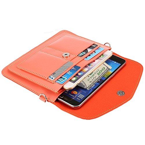 Wkae Case Cover 6,3 zentimeter universal modischen vertikale vier schichten multi - funktions - leder - umhängetasche mit card slots für das iphone 6 plus &65 plus, samsung galaxy 7 rand &anmerkung 5  rose