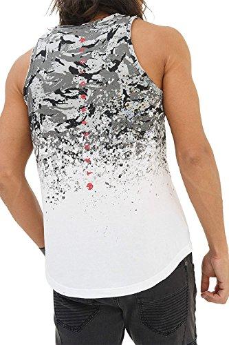 trueprodigy Casual Herren Marken Tank Top mit Aufdruck, Oberteil Cool und Stylisch mit Rundhals (Ärmellos & Slim Fit), Muscle Shirt für Männer in Bedruckt, Größe:XL, Farben:Weiß